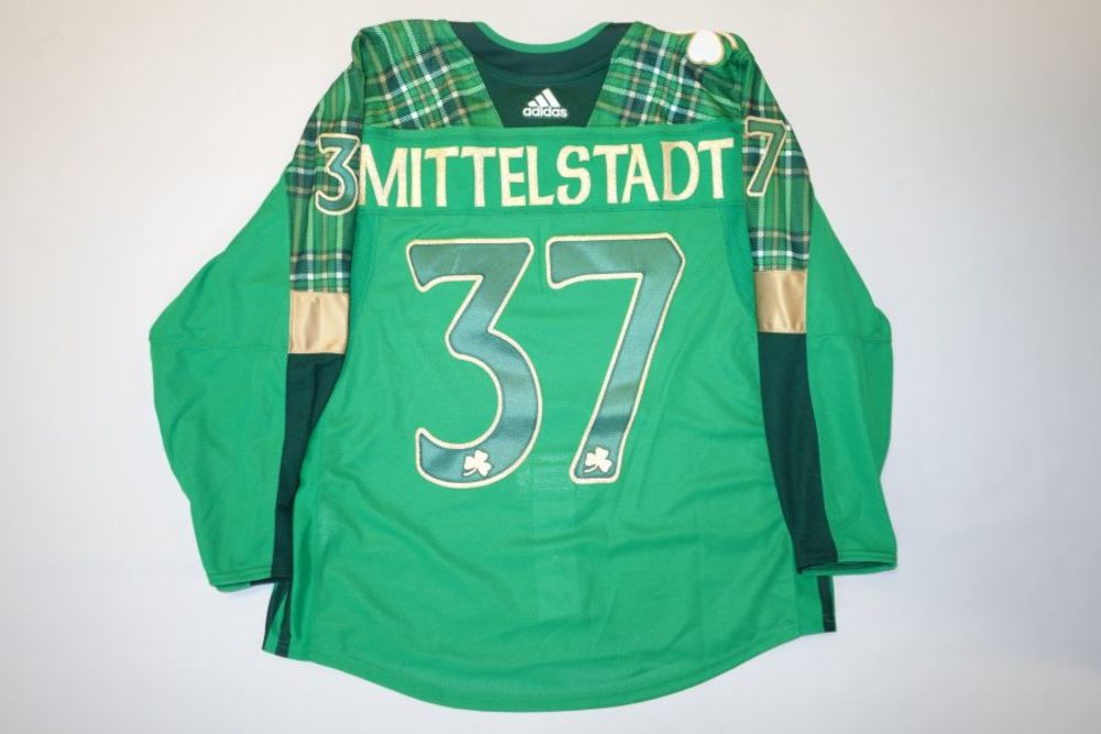 reputable site fbb04 f1fa5 Casey Mittelstadt 2019 Buffalo Sabres St. Patrick's Day ...