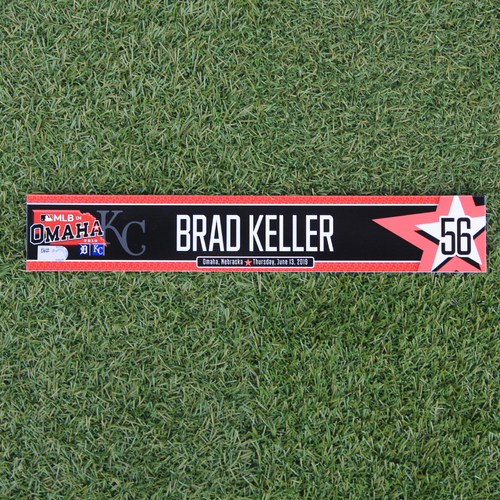 Photo of Game-Used Locker Tag: MLB in Omaha - Brad Keller (DET @ KC - 6/13/19)