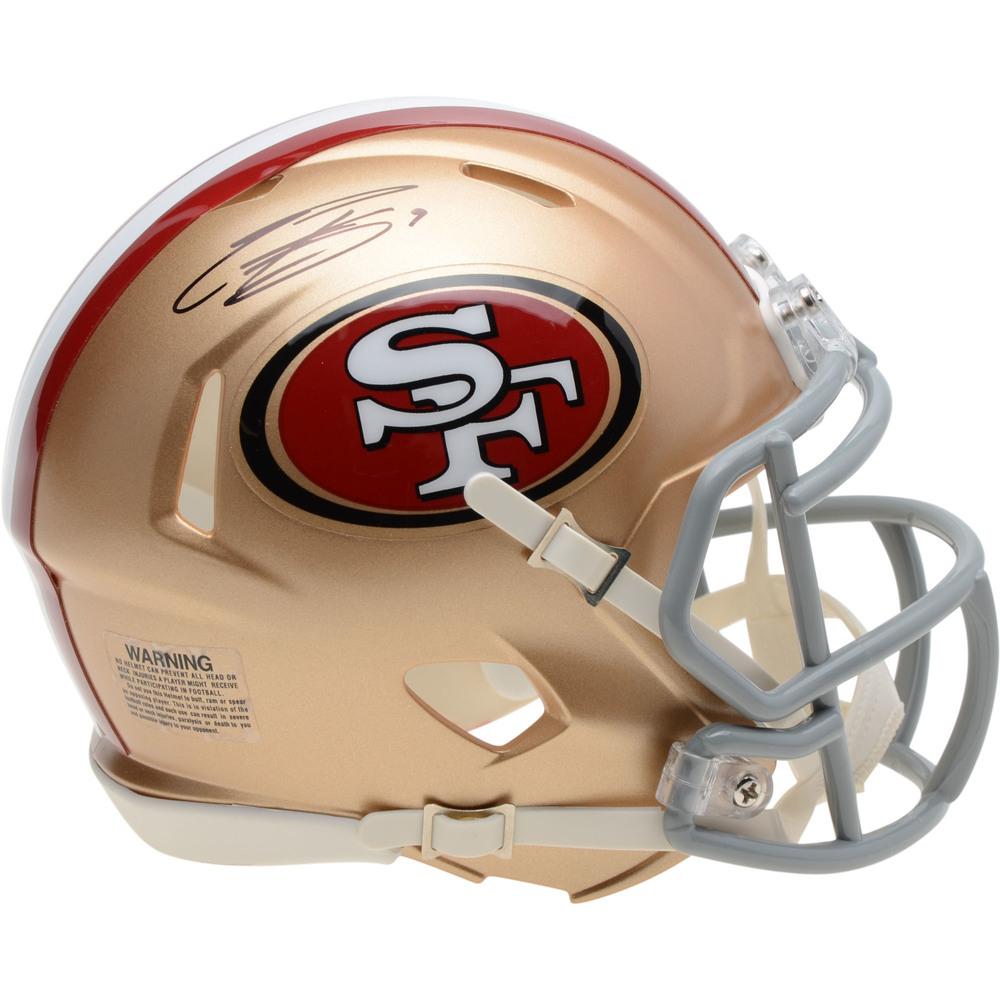 Evander Kane San Jose Sharks Autographed San Francisco 49ers Mini Helmet