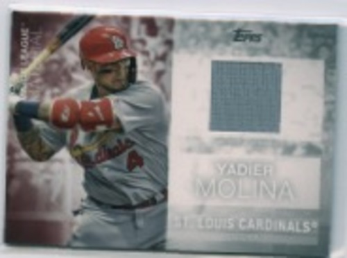 Photo of 2020 Topps Major League Materials #MLMYM Yadier Molina