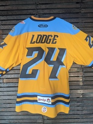 Photo of Jimmy Lodge Toledo Walleye Game Worn Jersey