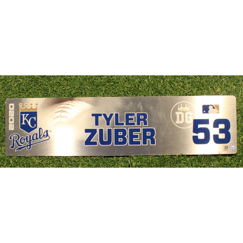 Photo of Game-Used Locker Tag: Tyler Zuber #53 (DET @ KC 9/24/20)
