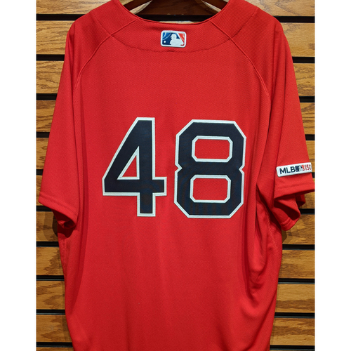 Photo of Andrew Cashner #48 Team Issued Home Alternate Red Jersey