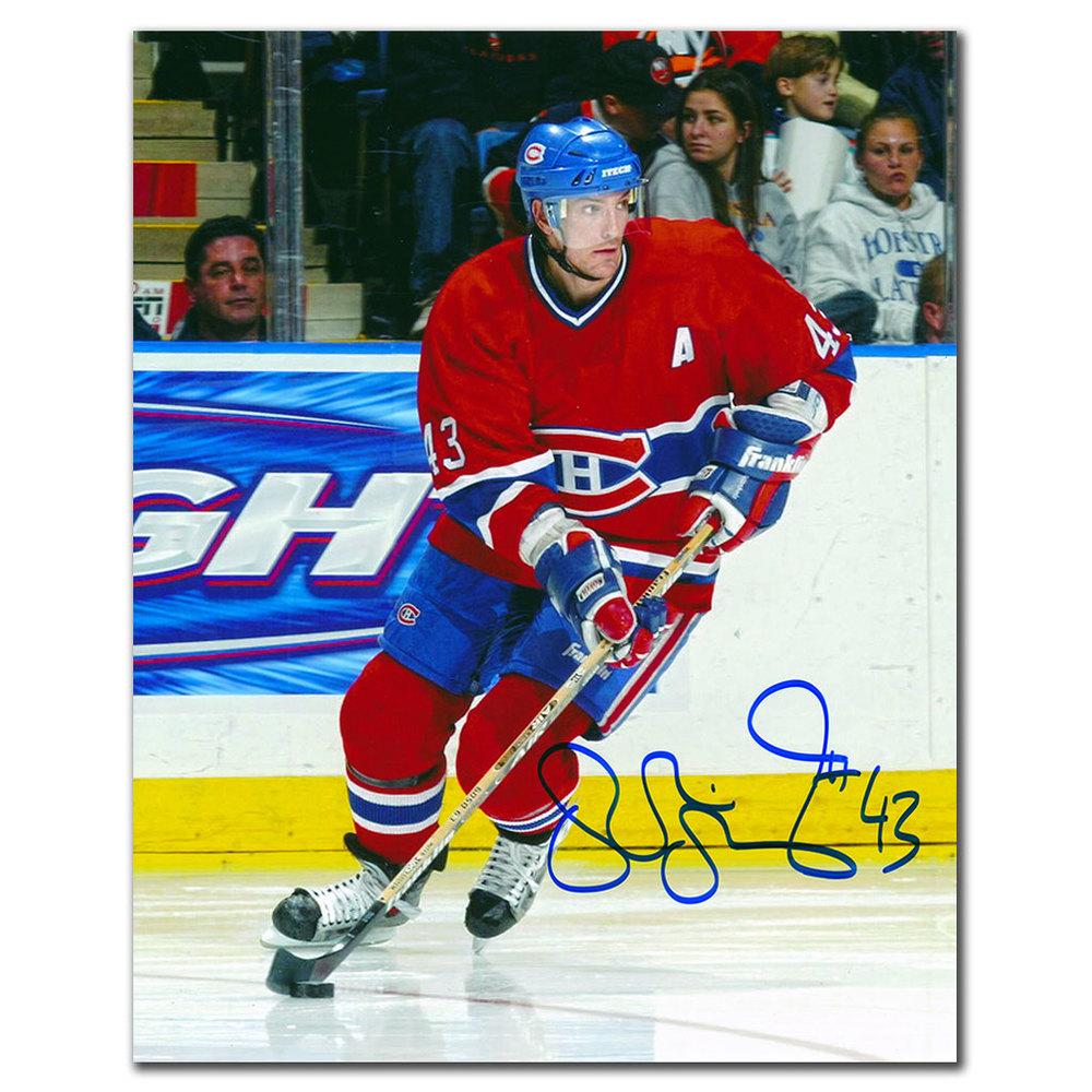 Patrice Brisebois Montreal Canadiens Autographed 8x10