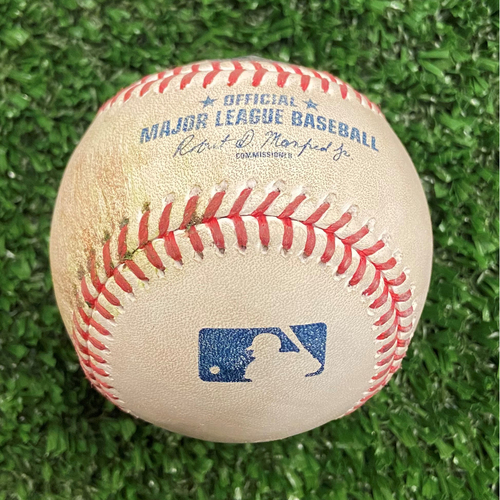 Photo of Omar Narvaez Hit Single Baseball off Charlie Morton - 10/12/21- NLDS Game 4, Braves Win NLDS