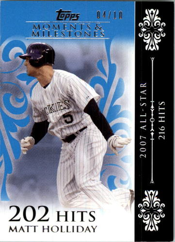 Photo of 2008 Topps Moments and Milestones Blue #125-202 Matt Holliday