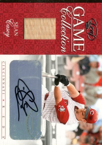 Photo of 2005 Leaf Game Collection Autograph #7 Sean Casey Bat/200