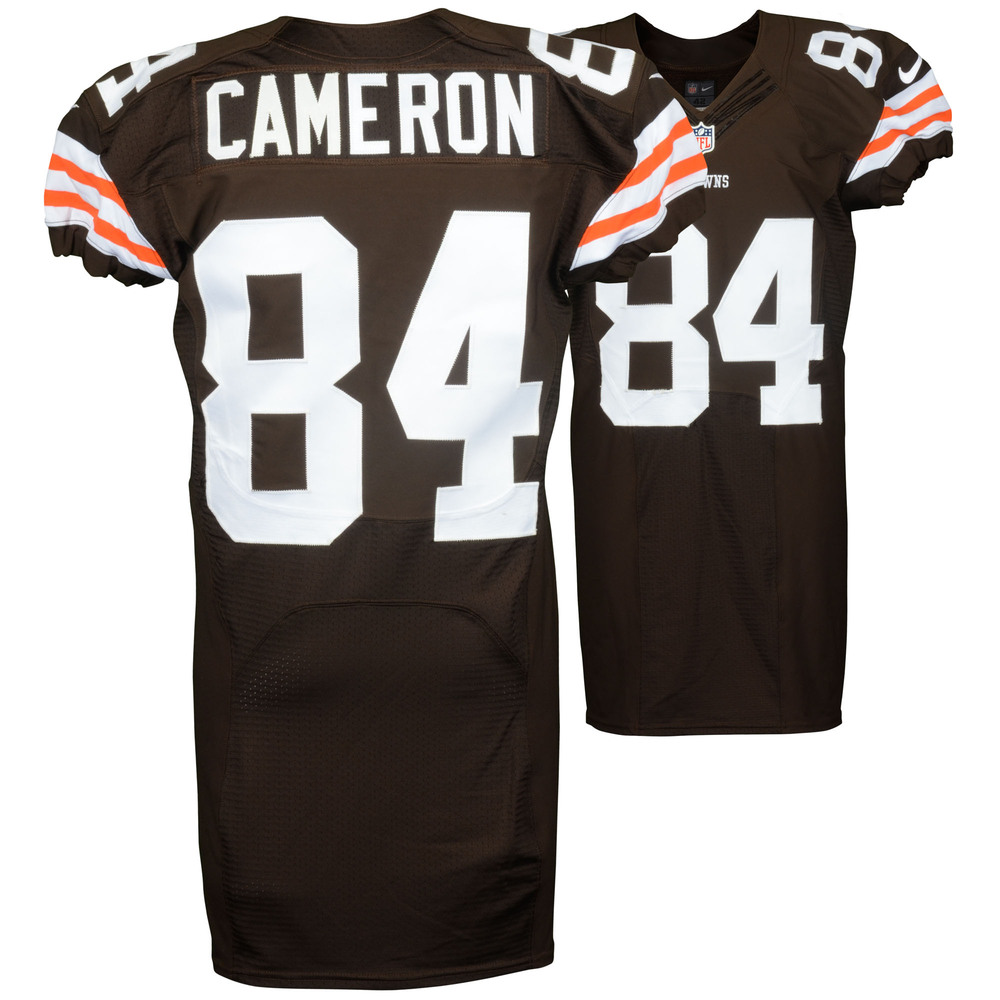 Jordan Cameron Cleveland Browns Game Used Brown #84 Jersey from the 2014 Season - 3