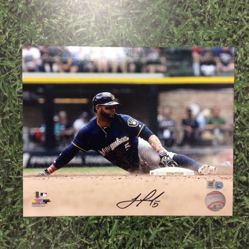 "Photo of Jonathan Villar Autographed 8"" x 10"" Photo"