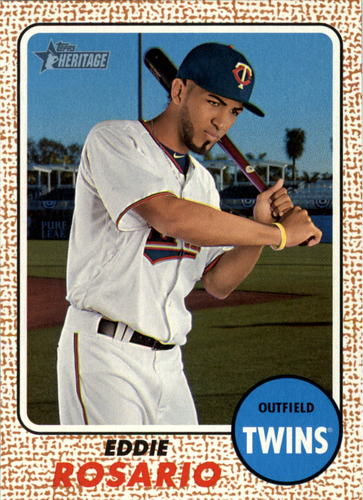 Photo of 2017 Topps Heritage #80 Eddie Rosario -- Twins post-season