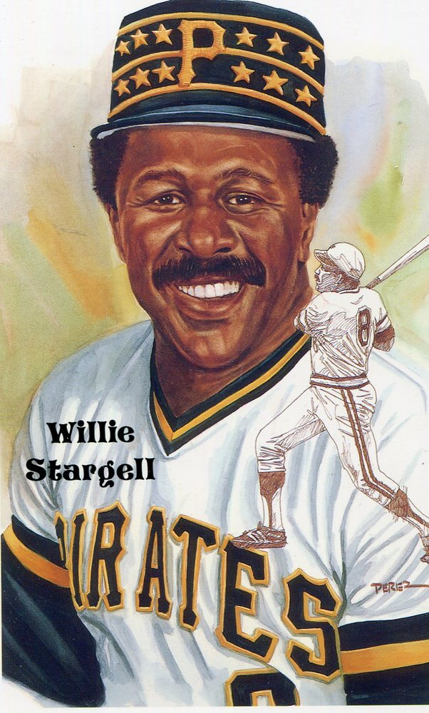 1980-02 Perez-Steele Hall of Fame Postcards #200 Willie Stargell -- HOF Class of 1988