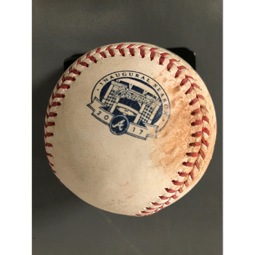Photo of Ender Inciarte Game-Used Hit Single Baseball - 8/2/17