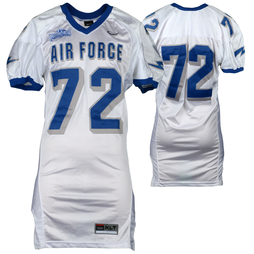 Air Force Falcons Game-Used #72 White Football Jersey from the 2002-06 Seasons - Size - XLT