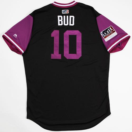 "Photo of Bud ""Bud"" Black  Colorado Rockies Game-Used 2018 Players' Weekend Jersey"