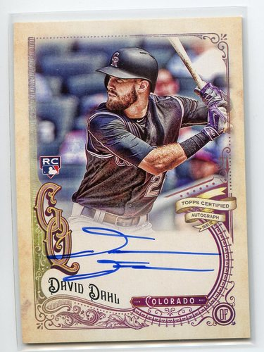 Photo of 2017 Topps Gypsy Queen Autographs #GQADD David Dahl