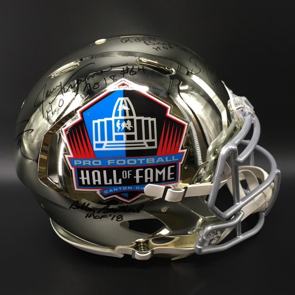 6cd3fcf4d9f HOF - Signed Chrome Revolution Hall of Fame Helmet W/ HOF 18 Class  (Including