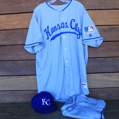Photo of Game-Used 1969 Throwback Jersey, Pants and Cap: Ian Kennedy (Jersey Size 48 - KC @ WSH  - 7/6/19)