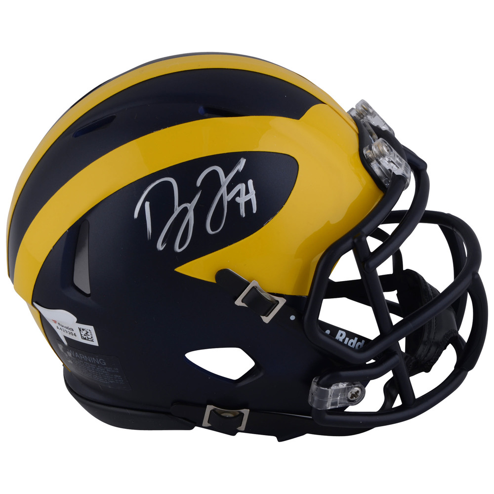Dylan Larkin Detroit Red Wings Autographed Michigan Wolverines Mini Football Helmet