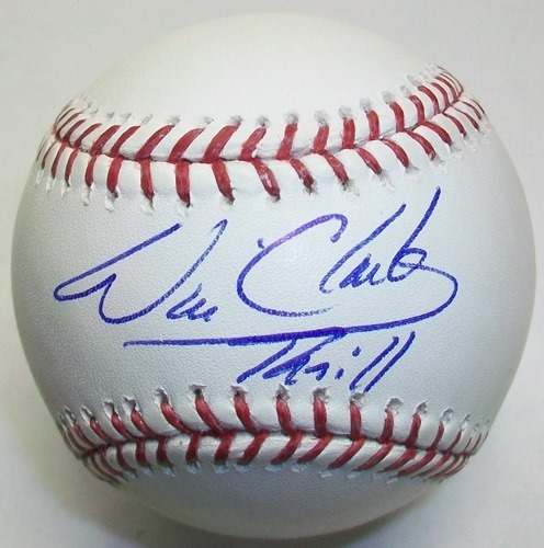 "Photo of Will Clark ""Thrill"" Autographed Official MLB Baseball"