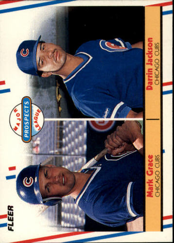 Photo of 1988 Fleer #641 Mark Grace RC/Darrin Jackson