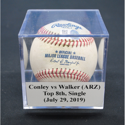Game-Used Baseball: Adam Conley vs Christian Walker (ARZ), Top 8th, Single - July 29, 2019