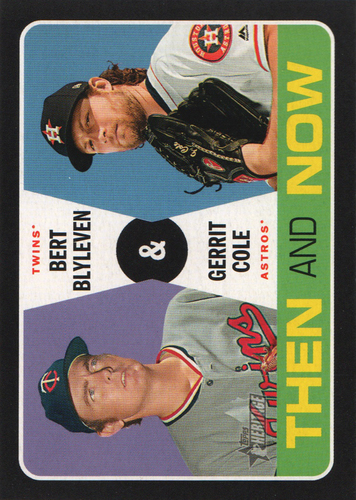 Photo of 2020 Topps Heritage Then and Now #TN15 Gerrit Cole/Bert Blyleven