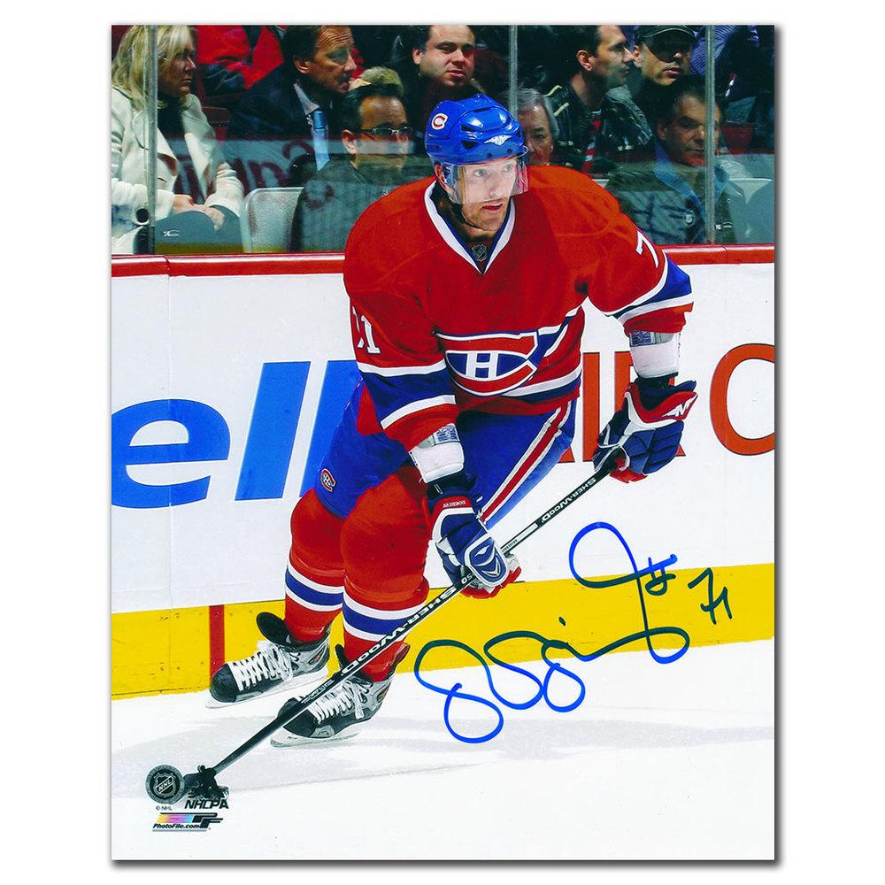 Patrice Brisebois Montreal Canadiens ACTION Autographed 8x10