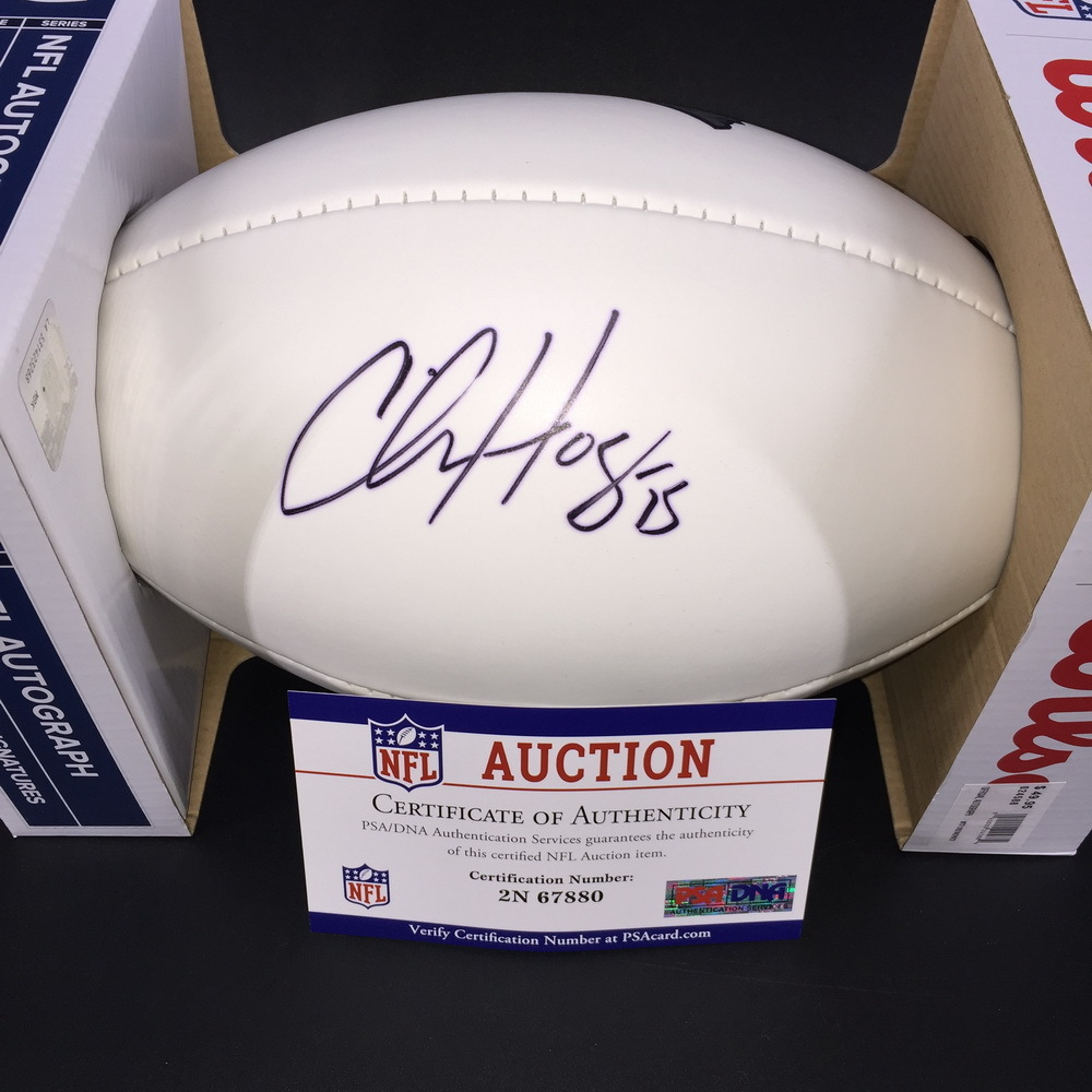 Patriots - Chris Hogan Signed Panel Ball w/ Patriots Logo