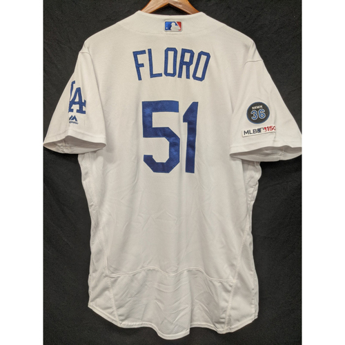 Photo of Dylan Floro Game-Used Home Jersey, Last Home Game of 2019