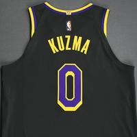 Kyle Kuzma - Los Angeles Lakers- Game-Worn Earned Edition Jersey - Recorded a Double-Double - 2020-21 NBA Season