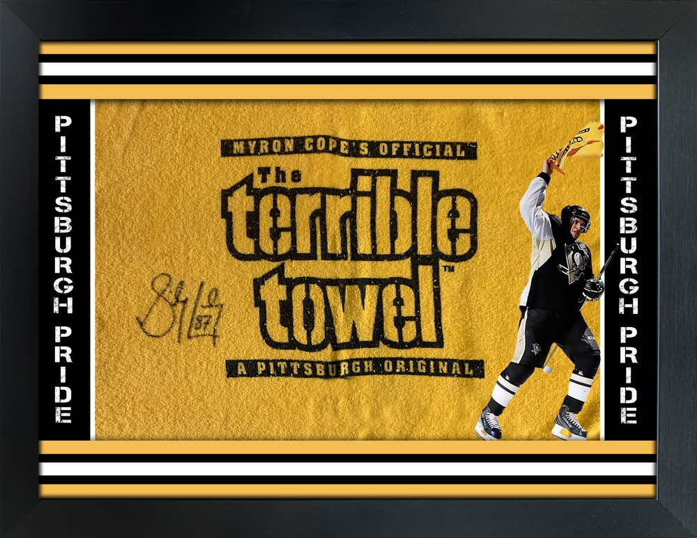 Sidney Crosby Signed Framed Terrible Towel