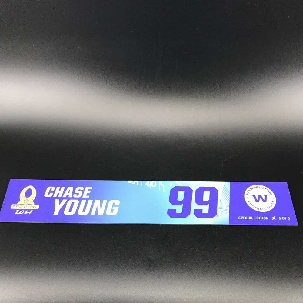 NFL - WFT Chase Young 2021 Pro Bowl Locker Nameplate Special Edition #5 of 5