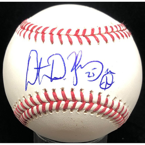 Photo of Dimitri Young -  Autographed Official Major League Baseball