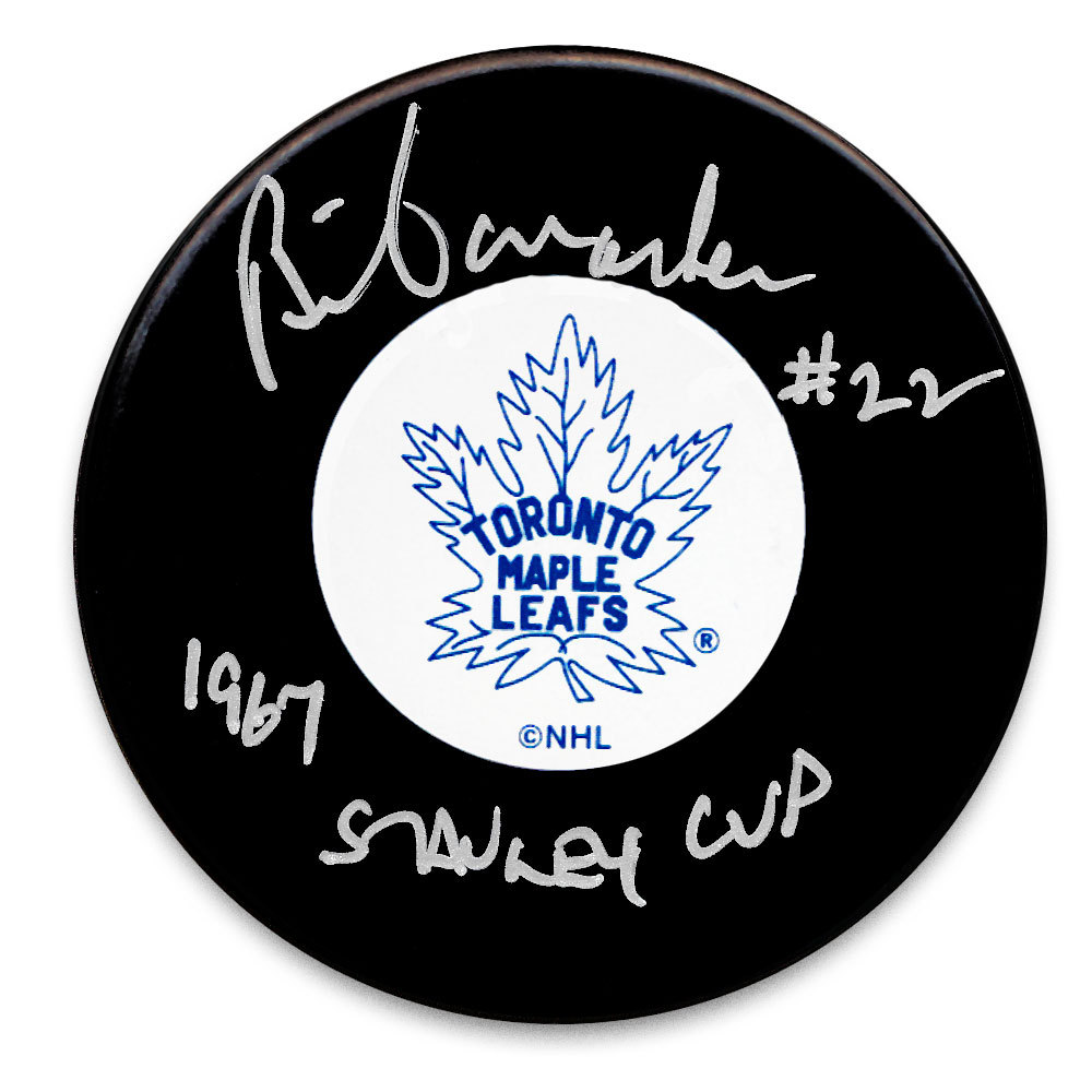 Brian Conacher Toronto Maple Leafs Autographed Puck