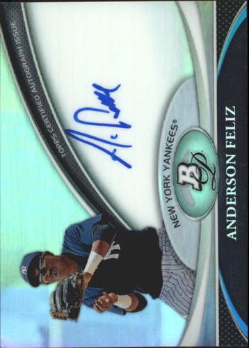 Photo of 2011 Bowman Platinum Prospect Autograph Refractors #AF Anderson Feliz