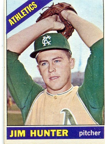 Photo of 1966 Topps #36 Jim Hunter -- Hall of Fame Class of 1987