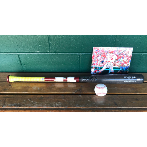 Photo of Cardinals Authentics: Randal Grichuk Bundle *Game-Used Broken bat, Autographed Photo and Baseball