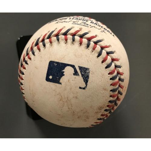 Photo of Nick Markakis Game-Used Hit Double Baseball - July 4, 2017
