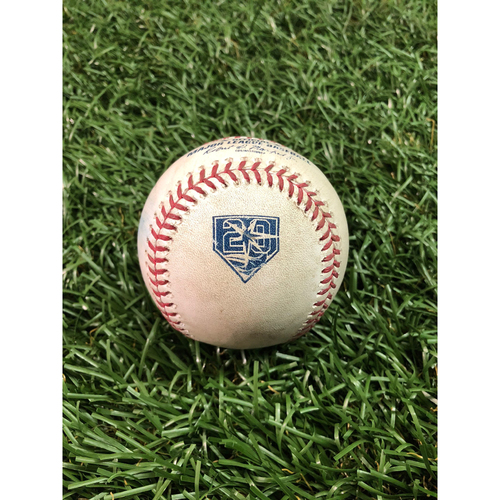Photo of 20th Anniversary Game Used Baseball: Tyler Glasnow strikes out Jonathan Villar - August 7, 2018 v BAL