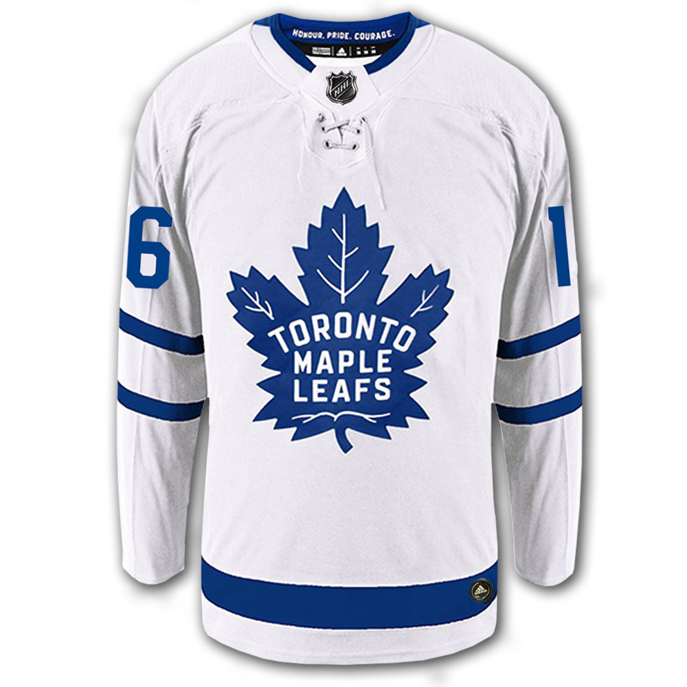 half off 2256e d9104 Mitch Marner Toronto Maple Leafs Adidas Pro Away Autographed ...