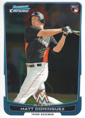 Photo of 2012 Bowman Chrome #162 Matt Dominguez RC
