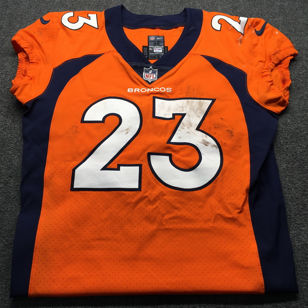 Crucial Catch - Broncos Devontae Booker Game Used Jersey  (October 14th, 2018) Size 42