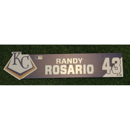 Photo of Game-Used Locker Nameplate: Randy Rosario (ATL @ KC - 9/25/19)