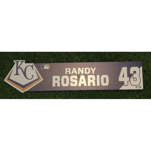 Game-Used Locker Nameplate: Randy Rosario (ATL @ KC - 9/25/19)