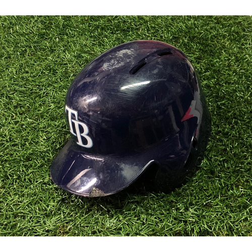 Photo of Game Used Home Run Helmet (size 7 3/8): Willy Adames (2HR, 3RBI) - 2019: June 29 (TEX), August 3 (MIA) & August 6 (TOR)