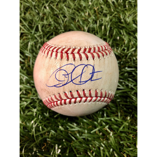 Photo of 20th Anniversary Autographed Game Used Baseball: Charlie Morton strikes out Daniel Robertson - July 1 , 2018 v HOU