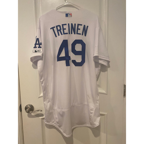 Blake Treinen Game Used BLM 2020 Opening Day Jersey