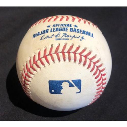 Photo of Game-Used Baseball -- Kyle Hendricks to Shogo Akiyama (Foul) -- Bottom 1 -- Cubs vs. Reds on 7/29/20