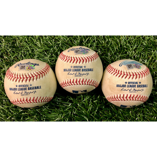 Photo of Game Used Baseball Package: Aaron Judge, Giovanny Urshela and Mike Tauchman - August 7-8, 2020 v NYY
