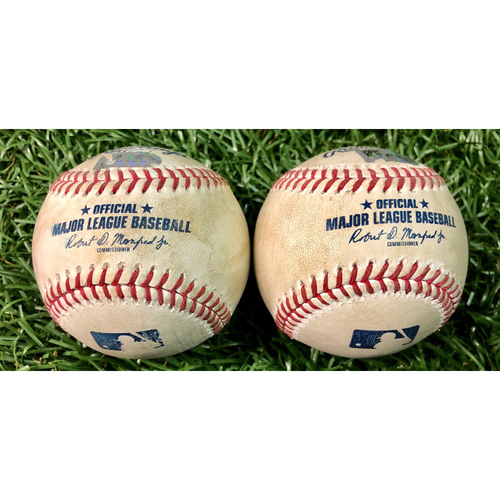 Photo of Game Used Baseball Package: Christian Vazquez & Andrew Benintendi - August 4-5, 2020 v BOS